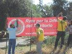 """Cartellone """"Rete per la difesa del territorio"""""""