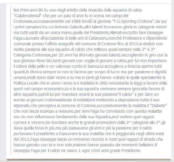 dichiarazioni di Luca Alfì sul presidente Faga