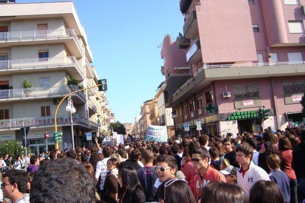 Manifestazione studenti Crotone