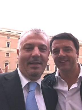 Arturo Crugliano Pantisano e Matteo Renzi
