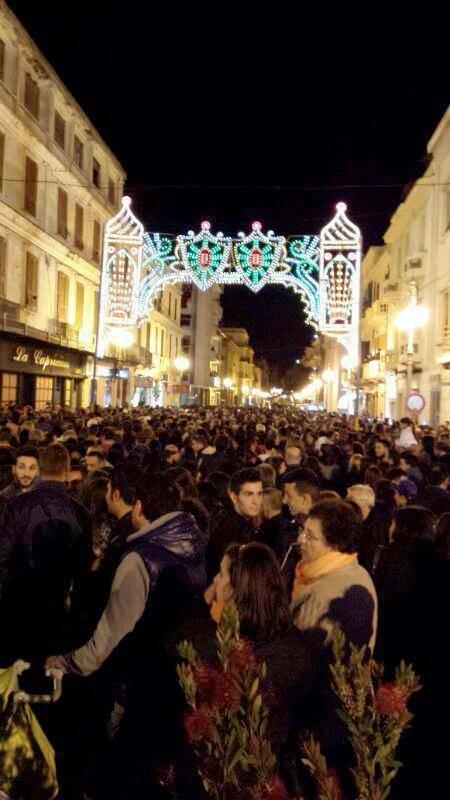 Piazza di Crotone alla festa della madonna