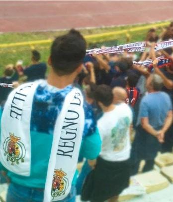 Sciarpa regno delle due Sicilie - partita serie b Bologna Crotone
