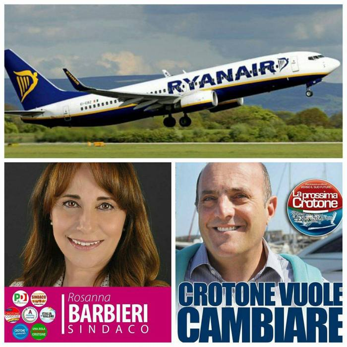 Rosanna Barbieri e Ugo Pugliese su Ryanair
